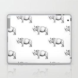 Rhino (Line drawing) Laptop & iPad Skin