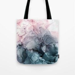 Blush and Paynes Gray Flowing Abstract Reflect Tote Bag