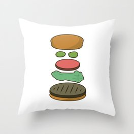 Bob's Burgers Hamburger Parts 2 Throw Pillow