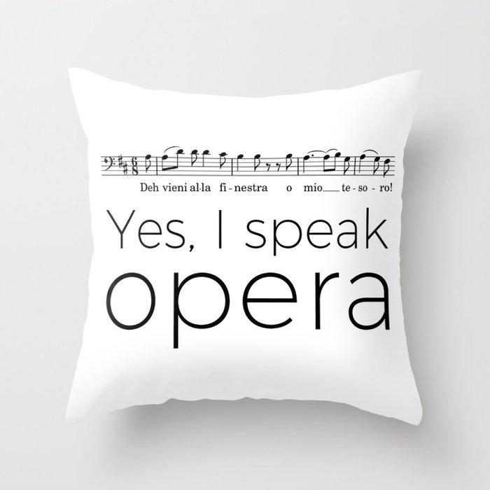I speak opera (baritone) Throw Pillow