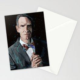 """The Science Guy"" Digital, 2018. Original Digital Watercolor Painting, Bill Nye Stationery Cards"