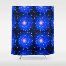 Mosaic in Blue Shower Curtain