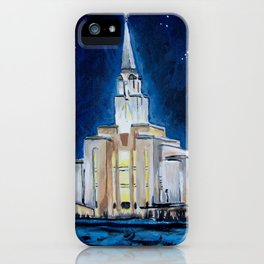 Oquirrh Mountain Utah LDS Temple iPhone Case