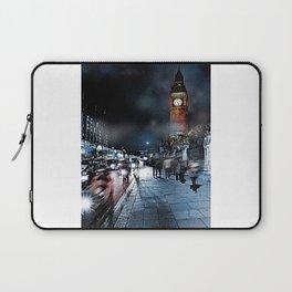 London Street At Night Laptop Sleeve