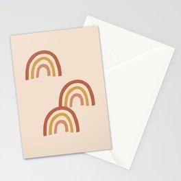 Boho Rainbows on Taupe Stationery Cards
