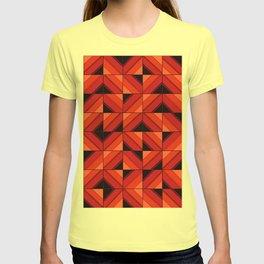 Fake wood pattern T-shirt