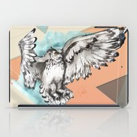 mcfly iPad Cases featuring Owl McFly by carographic by carographic watercolor portraits