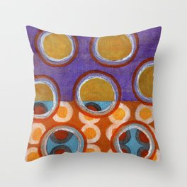 About the Second Reality inside the Bubbles Throw Pillow