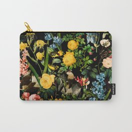 FLORAL AND BIRDS V Carry-All Pouch