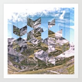 Mountain Fragments Art Print
