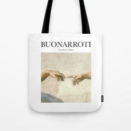 Buonarroti - Creation of Adam Tote Bag