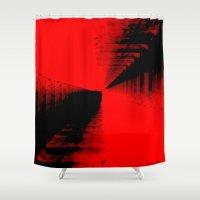spiritual Shower Curtains featuring Spiritual Balance by ELIZ CALDER