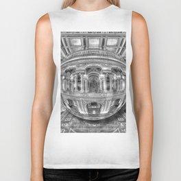 Ode To MC Escher Library of Congress Orb Biker Tank