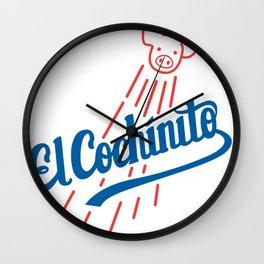 El Cochinito LA logo Wall Clock