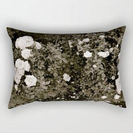 B&W Rose Rectangular Pillow