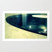 record Art Prints featuring Record by Derek Fleener