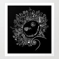 jack skellington Art Prints featuring Jack Skellington by Shepaki