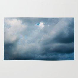 Rain Storm Clouds Gathering On Sky, Stormy Sky, Infinity Rug