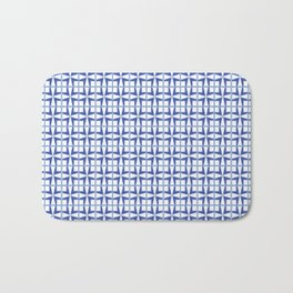 Squares and triangles pattern blue Bath Mat