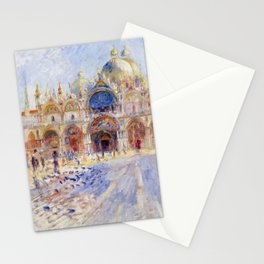 Pierre Auguste Renoir - The Piazza San Marco, Venice Stationery Cards