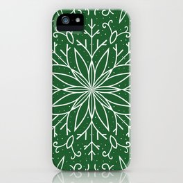 Single Snowflake - green iPhone Case