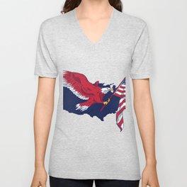 Patriotic American Eagle Unisex V-Neck