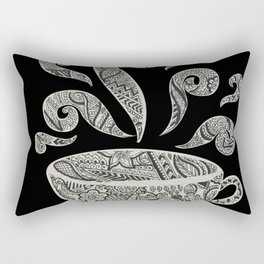But first, Coffee - tea coffee lover zentangle Rectangular Pillow