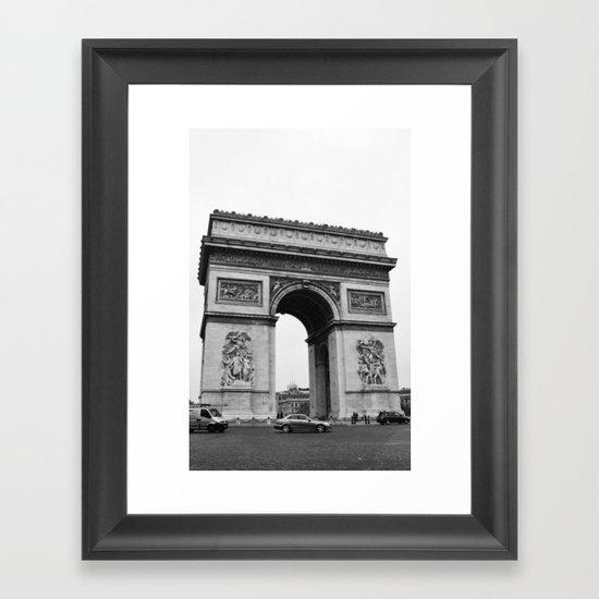 Arc de Triomphe Noir Framed Art Print
