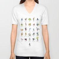mythology V-neck T-shirts featuring A-Z of Monsters & Mythology by James Courtney-Prior