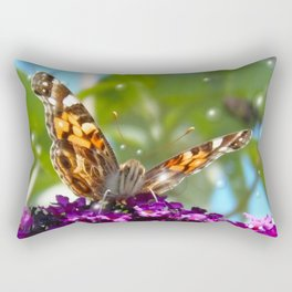 Small Butterfly with Bubbles  Rectangular Pillow