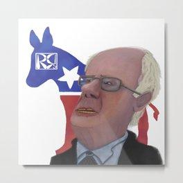 Bernie Sanders Caricature Metal Print
