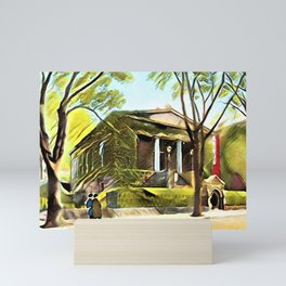 Providence Athenæum Library Benefit Street Landscape Painting by Jeanpaul Ferro Mini Art Print