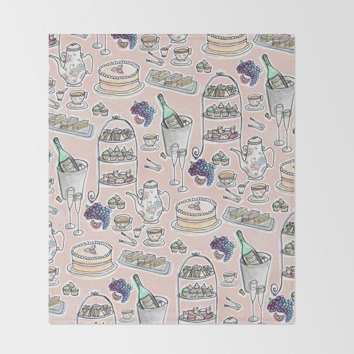 Afernoon Tea Pattern Throw Blanket