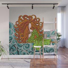 Mermaid Waves Wall Mural