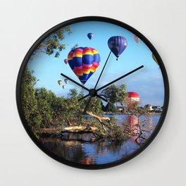 Hot air balloon scene Wall Clock