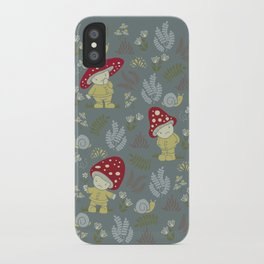 Melancholy Mushrooms iPhone Case