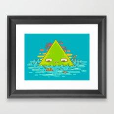 The Bermuda Triangle Framed Art Print
