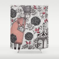 garden Shower Curtains featuring Winter Garden by Judith Clay