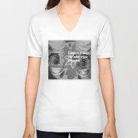 converse V-neck T-shirts featuring Ratty Converse by Christine Eglantine