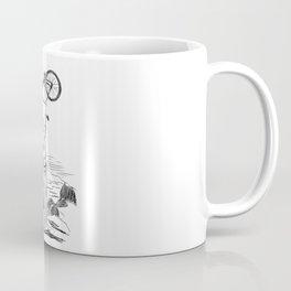 Bike Contemplation - light background Coffee Mug