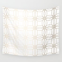 Simply Vintage Link in White Gold Sands on White Wall Tapestry