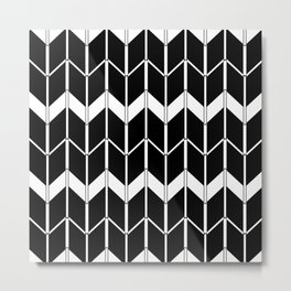 The Scandinavian pattern , black and white 2 Metal Print