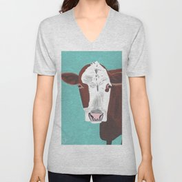 A Cow Named Adeline Unisex V-Neck