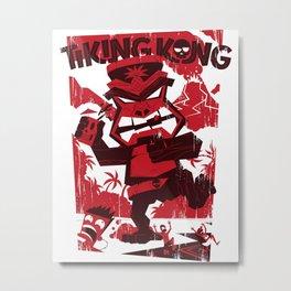 Tiking Kong Metal Print