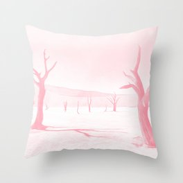 deadvlei desert trees acrpw Throw Pillow