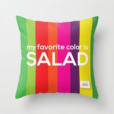 My favorite color is salad Throw Pillow