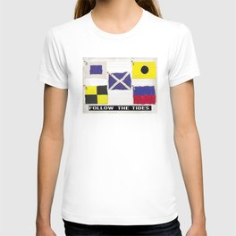 Boat Flags - Follow the Tides T-shirt