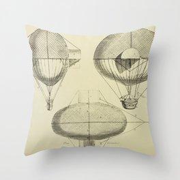 Mathieu's Airship Project Throw Pillow