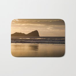 Rhossili beach and Worms Head Bath Mat