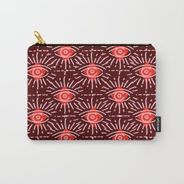 Dainty All Seeing Eye Pattern in Reds Carry-All Pouch